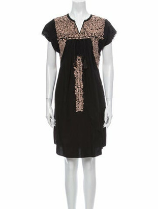 Ulla Johnson Printed Knee-Length Dress Black