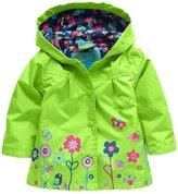 Vikoros Little Girls' Party Floral Rain Coat / Rain Pants