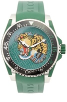 Gucci Dive stainless-steel and rubber watch