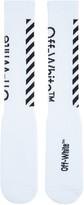 Off-White White Diagonal Socks
