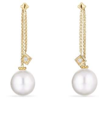 David Yurman Solari Drop Earrings in 18k Gold with Diamonds