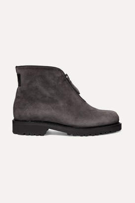 Ludwig Reiter Apres Ski Shearling-lined Suede Ankle Boots - Gray