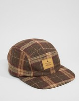 Asos 5 Panel Cap In Brown Check