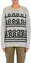 Current/Elliott WOMEN'S FRINGED STOCKINETTE-STITCHED SWEATER