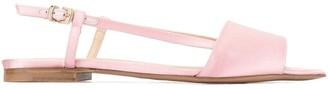 Paule Ka Satin Slingback Sandals