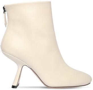 Nicholas Kirkwood 90mm Alba Leather Ankle Boots