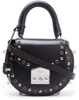SALAR Women's Mimi Ring Bag Nero