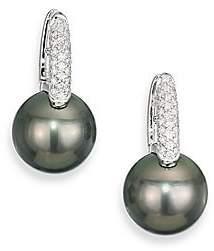 dfa29390a Mikimoto Women's Black South Sea 10MM-11MM Black Pearl, Diamond & 18K White  Gold