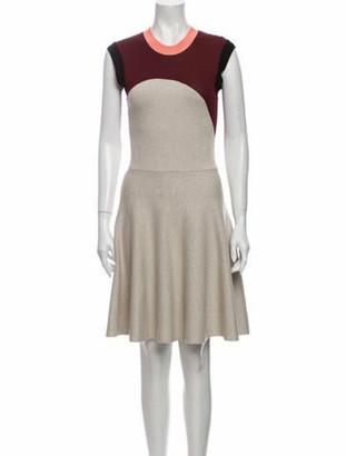 Alexander McQueen Crew Neck Knee-Length Dress Grey