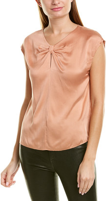 Rebecca Taylor Charm Knot Silk Top