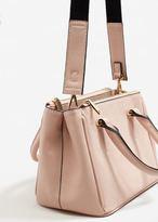 MANGO Saffiano-effect tote bag