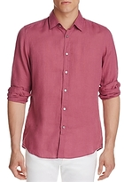 BOSS Lukas Linen Regular Fit Button-Down Shirt