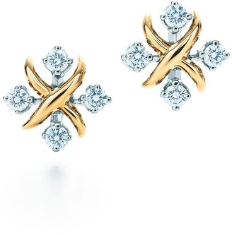 Tiffany & Co. Schlumberger Lynn earrings in 18k gold with diamonds