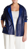 Lafayette 148 New York Leather Reversible Tavi Topper (Plus Size)
