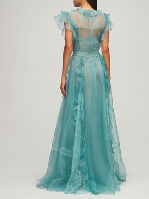 ZUHAIR MURAD Silk Organza & Lace Dress
