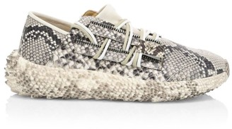 Giuseppe Zanotti Urchin Crocodile-Embossed Leather Sneakers