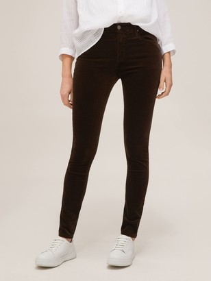 AG Jeans The Farrah High Rise Skinny Ankle Jeans, Dark Brown