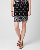 Le Château Printed Jersey Mini Skirt