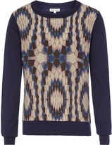 Reiss Rover PRINT FRONT JUMPER