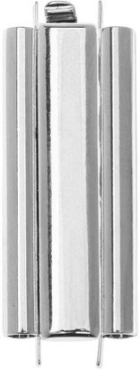 Overstock Elegant Elements Beadslides, Seed Bead Slide End Tube Clasp 29x10mm, 1 Set, Silver Plated