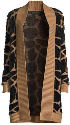 Donna Karan Giraffe Jacquard Open-Front Cardigan