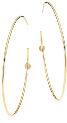 Judith Leiber 14K Goldplated Sterling Silver Post Hoop Earrings