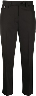 Calvin Klein Mid-Rise Tapered Trousers