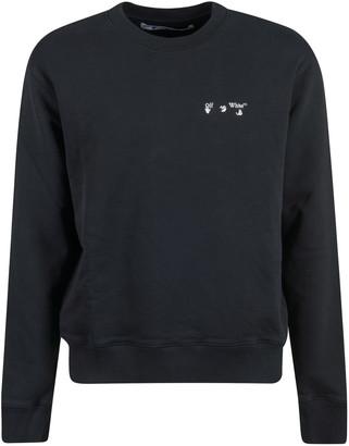 Off-White Logo Slim Crewneck Sweatshirt