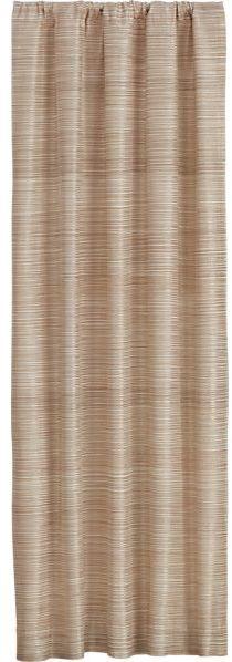 Crate & Barrel Ainsley Cream 50x84 Curtain Panel