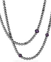 David Yurman Osetra Necklace with Hematite and Amethyst