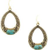 Barse Women's Genuine Turquoise Drop Earring EARR414T01B