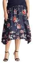 Lauren Ralph Lauren Plus Twill Handkerchief Skirt
