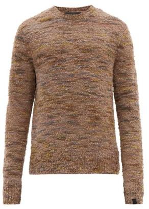 Rag & Bone Brock Marled-boucle Wool-blend Sweater - Mens - Brown Multi