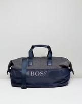 BOSS GREEN By Hugo Boss Mixed Fabric Holdall Navy