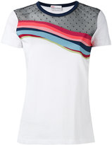 RED Valentino contrast T-shirt - women - Cotton/Polyester - XS