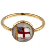 Annina Vogel Gold Essex Crystal British Flag Ring