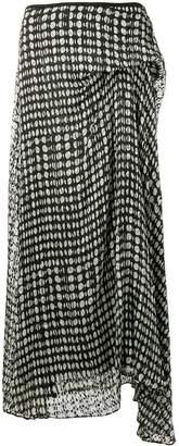 Theory asymmetric midi skirt