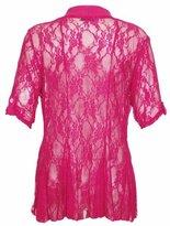 Purple Hanger PurpleHanger Women's Floral Lace Cardigan Top Plus Size Size 22-24