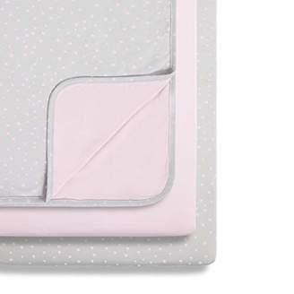 Snuz 3-Piece Bedside Crib Bedding Set, Rose Spot, Pink/Grey, 580 g
