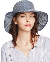 Aqua Denim Ribbon Cloche Hat - 100% Exclusive