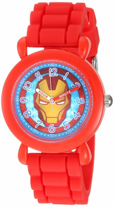 Marvel Boys' Iron Man Analog Quartz Watch with Silicone Strap