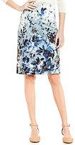 Alex Marie Melinda Hook Back Floral Printed Pencil Skirt
