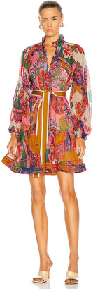 Zimmermann Lovestruck Mini Dress in Mixed Paisley Floral | FWRD