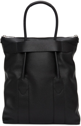 Maison Margiela Black Leather Medium Tote