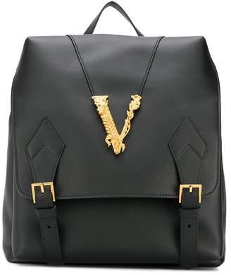 Versace V embellished backpack