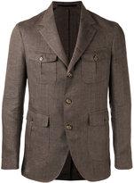 Eleventy chest pocket blazer - men - Linen/Flax/Cupro - 56