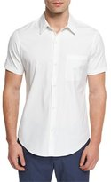 Theory Rammis S. Ostend Short-Sleeve Woven Shirt, White