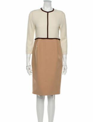 Chloé Crew Neck Knee-Length Dress