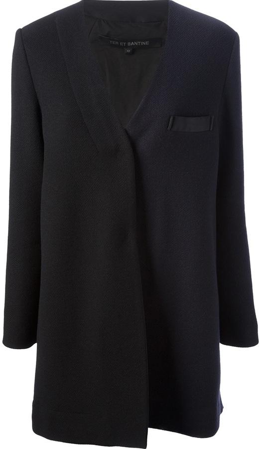 Ter Et Bantine collarless coat