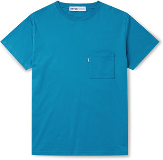 AFFIX Logo-Print Cotton-Jersey T-Shirt - Men - Blue